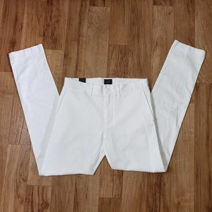 NEW J. Crew 484 Slim Fit Stretch Chino Pants White